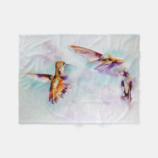 """Tryck """"för skymningdans"""" Hummingbird Fleecefilt"""