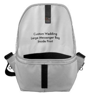 Tryck för stor messenger bag för personligt bröllp
