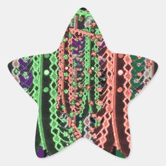 TRYCK för tyg för ZARI-broderikrås: Divamode Stjärnformat Klistermärke