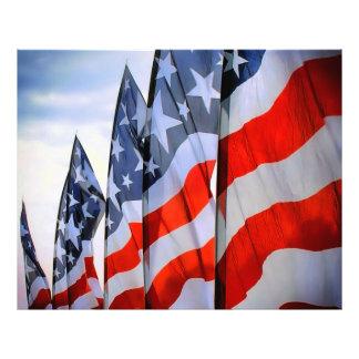 Tryck för USA flaggafotopapper Fototryck