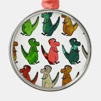 Tryck för vattenfärgT-Rex Dinosaur Julgransprydnad Metall