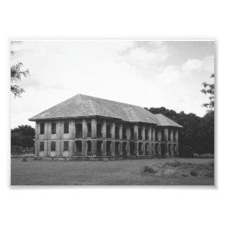 Tryck för vintagehusfoto fototryck