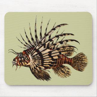 Tryck för vintageLionfishkonst Musmatta