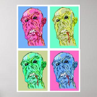 Tryck för Zombiepopkonst Poster