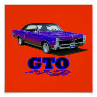 "Tryck med ""den Pontiac GTO"" designen"
