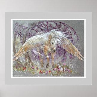 TRYCK - Pegasus guld- Palomino