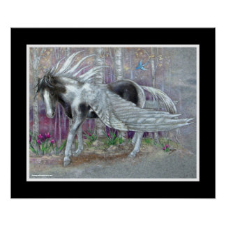 TRYCK - Pegasus målad Prince