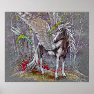 TRYCK - Pegasus målad svart