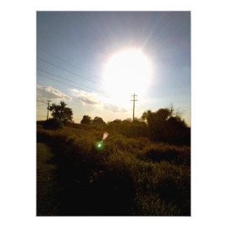 Trycket för skördsolfoto fototryck