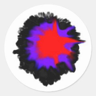 tryckvåg från förflutnan runt klistermärke