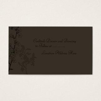 Tryffel (mottagandekort) visitkort