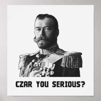 Tsar Nicholas II - tsar dig som är allvarlig? Poster