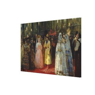 Tsaren som väljer en brud, c.1886 canvastryck