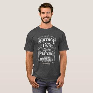 Tshirt 1978 för vintageskjortafödelsedag 40 födda t-shirt
