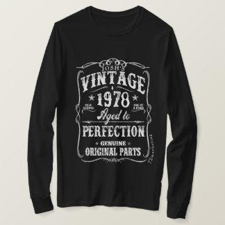 Tshirt 1978 för vintageskjortafödelsedag 40 födda tröjor