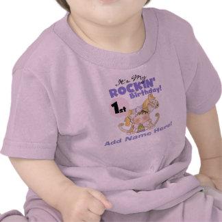 Tshirt för flickaRockin 1st födelsedag T Shirt