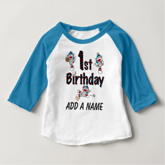 Tshirt för födelsedag för personligapabaseball 1st tee shirt
