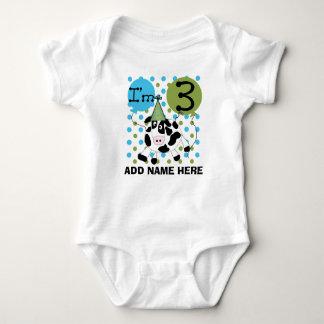 Tshirt för födelsedag för personligblåttko 3rd t-shirt