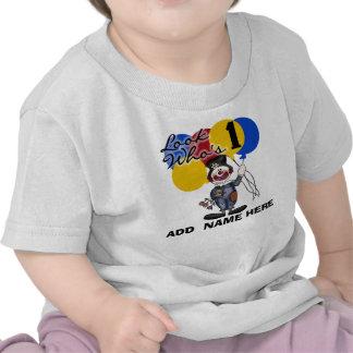 Tshirt för födelsedag för personligclown 1st tröjor