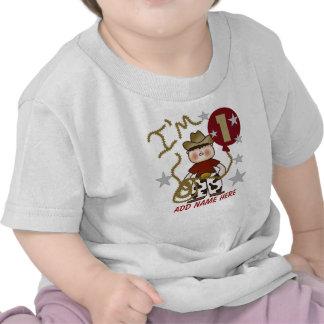 Tshirt för födelsedag för personligCowboy 1st T Shirts