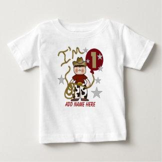 Tshirt för födelsedag för personligCowboy 1st Tröja
