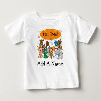 Tshirt för födelsedag för personligpartydjur 2nd tshirts