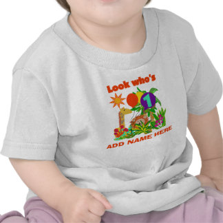 Tshirt för födelsedag för personligSafari 1st T-shirts