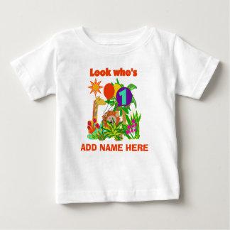 Tshirt för födelsedag för personligSafari 1st Tshirts
