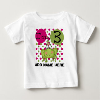Tshirt för födelsedag för rosa groda för personlig tee shirt