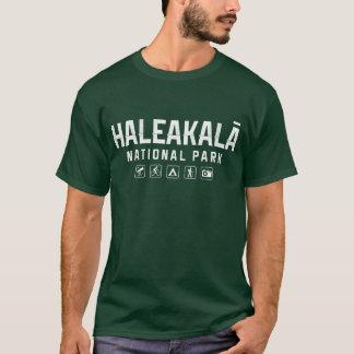 Tshirt för Haleakala nationalpark (Hawaii) - mörk T-shirt