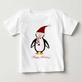 Tshirt för julpingvinbaby tee shirt