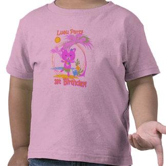 Tshirt för småbarn för födelsedag för Luau party 1 T Shirts