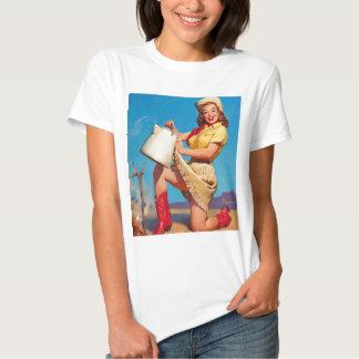 Tshirt för vintageCowgirlpinup Tee Shirts