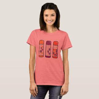 Tshirt för vintageformgivaredam med Thermo muggar T Shirts