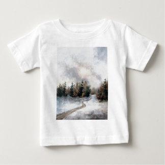 Tshirt för vintersolnedgångspädbarn t-shirt