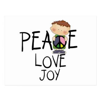 Tshirts och gåvor för fredkärlekglädje vykort