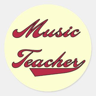 Tshirts och gåvor för musiklärare röda klistermärken