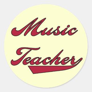 Tshirts och gåvor för musiklärare röda klistermärke