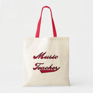 Tshirts och gåvor för musiklärare röda tygkasse