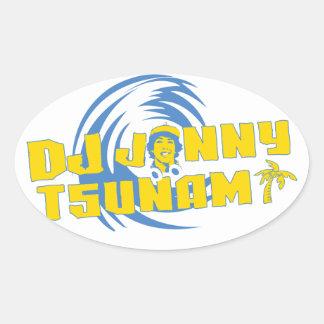 Tsunamiklistermärke för DJ Jonny Ovalt Klistermärke