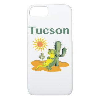 Tucson Arizona ödla under Saguaro
