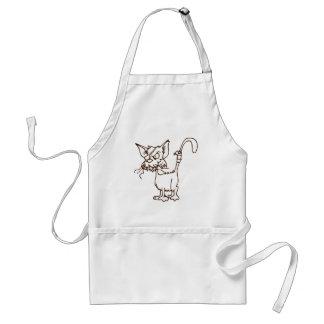 Tuff kattungetecknad för strykarkatt: förkläde