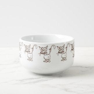 Tuff kattungetecknad för strykarkatt mugg för soppa