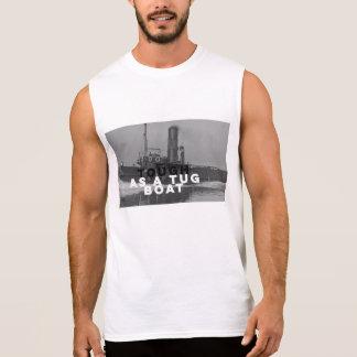 Tuff som vit för T-tröja för bogserbåtfartyg en Ärmlösa Tees