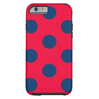 tufffodral för iPhone 6: Polkaen pricker (rött & Tough iPhone 6 Fodral