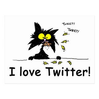 Tuffkattunge älskar twitteren vykort