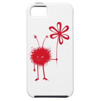 Tufft rött ont blommakryp iPhone 5 skydd