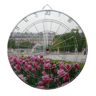 Tuileries trädgård i blom piltavla