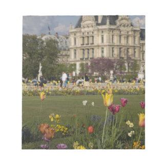 Tuileries trädgård, luftventil, Paris, frankrike Anteckningsblock