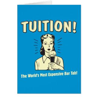 Tuition: Mest dyr pubflik Hälsnings Kort